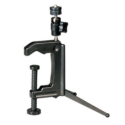 Mini Portable Swiveling C-Clamp Tripod Stand for Camera Camcorder DSLR GYTH