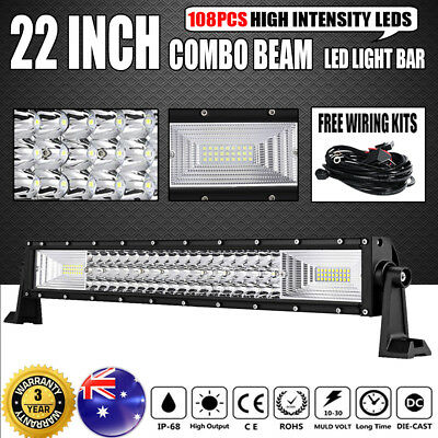 23inch 450W Philips Curved LED Light Bar Spot Flood Offroad Work Driving 4WD 20""