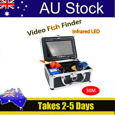 "BOBLOV 30m Infrared 7"" LCD Fish Finder Underwater Video Cam+4500mAh Battery"