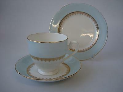 Vintage Paragon China Powder Blue And Gold Trio