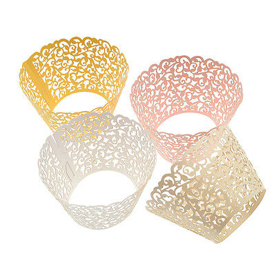 120 Pcs Lace Cup Cake Holder Paper Wrapper Liners Baking Party Cupcake Decor