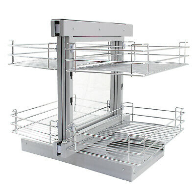 Magic Corner Kitchen Baskets Pull Out Right Hand Slide Out Wire Storage 80-90cm