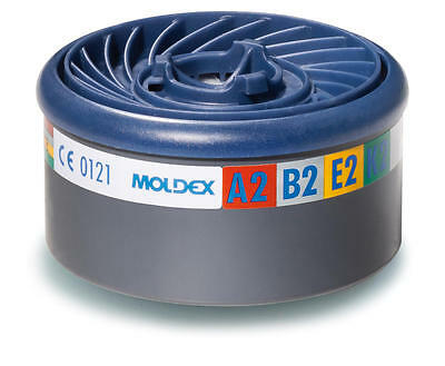 Moldex 9800 A2B2E2K2 easylock gas filter cartridges (4 pairs)