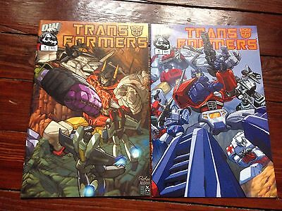 Transformers #1 variants collection April 2002 IDW includes chromium cover
