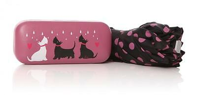 Shruti Scottie Terrier Dog Handy Brolly Compact Folding Umbrella In Gift Case