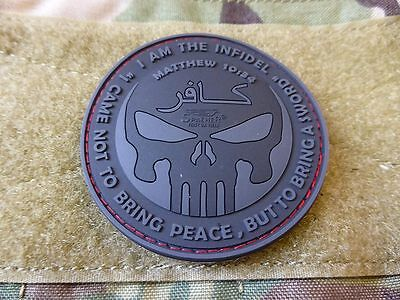 JTG  THE INFIDEL PUNISHER Patch, blackops / JTG 3D Rubber Patch