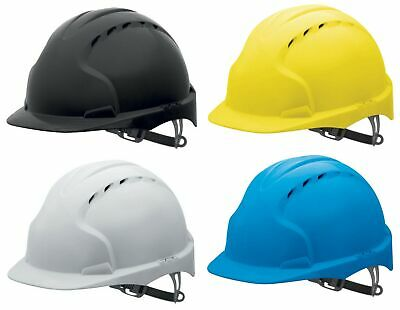 JSP AJF160 EVO3 white,yellow,blue or black ventilated safety helmet hard hat