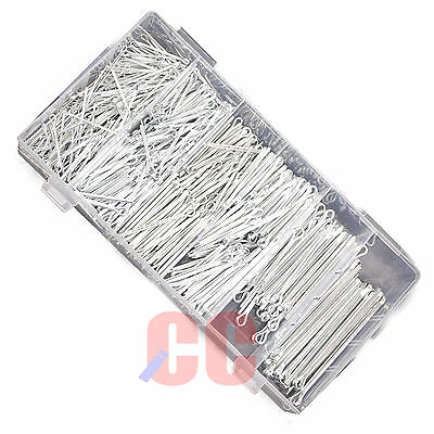 500 Pc Cotter Pin Assortment Securing Clips Split Fasteners Wheel Axle Retaining