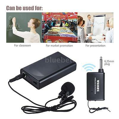Portable Lavalier Lapel Collar Clip-on Wireless Microphone Voice Amplifier B3S0