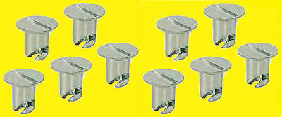 Quick Turn Flush Head Button Buttons 7/16 .500in 10 pk Aluminum Dzus Fastner