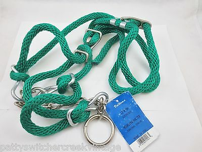 VALHOMA Cow Halter Yearling Rope Control Chain GREEN NEW FREE SHIP!