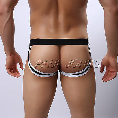 Sexy Breathable Men's Thong Backless Bluge Pouch Jock Strap Underwear Underpants