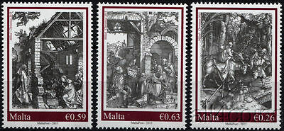 Malta. 2015. Christmas 2015 set by Albrecht Dürer (MNH OG) set of 3 stamps