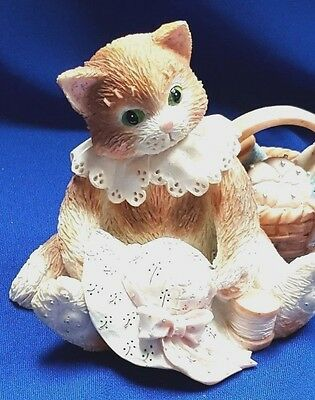 """Calico Kitten """"Hats off to a perfect friendship"""" 1994 by Enesco Collectible 1294"""