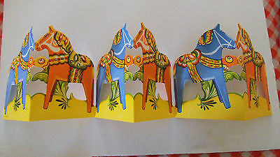 New Dala Horse Cardboard Fold-Out from Sweden - Festive Decoration for Table