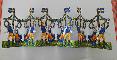 New Young Swedish Couple Cardboard Fold-Out from Sweden - Festive Decoration