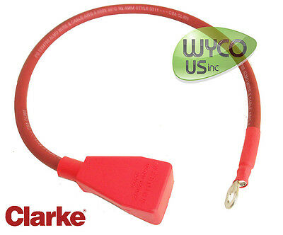 1 Battery Cable, Positive, Clarke Focus Rider, Power/man Steering, 40895A