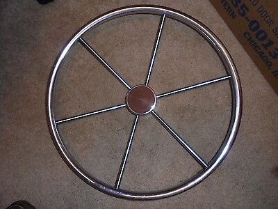 STAINLESS STEEL BOAT SHIPS WHEEL 20 Inch SAILBOAT Motor Boat or DECOR