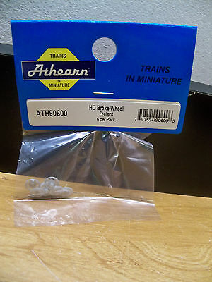 New Athearn Ho 90600 Replacement Part 6 Freight Brake Wheel Gray Free1St Cls S&h