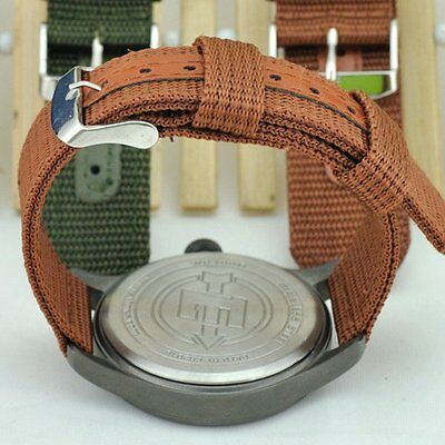 Unisex Military Army Nylon Fabric Wrist Watch Band Strap Size 18/20/22/24mm Cool