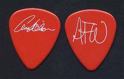 Heart Ann Annie Wilson Early 1990s White on Red Signature Guitar Pick