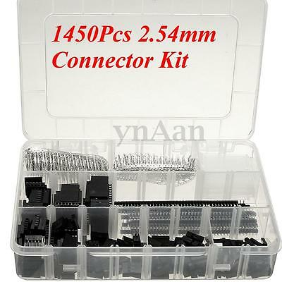 1450Pcs Connector Kit 2.54 mm PCB Pin Headers Box Packaging For Arduino Dupont