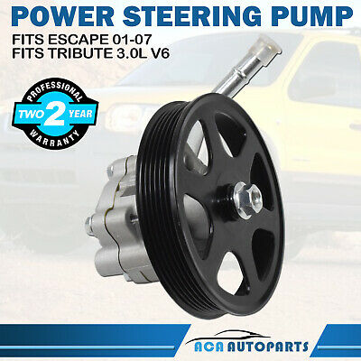 6L8Z3A696B Power Steering Pump w/ Pully For Ford Escape Mazda Tribute 3.0L 01-07