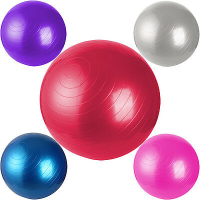 45CM 55CM 65CM 75CM BALL YOGA GYM EXERCISE PILATES FITNESS WEIGHT LOSS W/ Pump