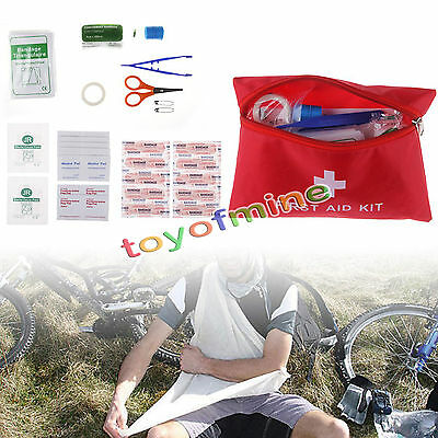 Emergency Survival FIRST AID KIT Treatment Sport Outdoor Travel Medical Bag New