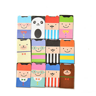 1 Set 4Pcs Bookmarks Note Pad Memo Stationery Book Mark Novelty Funny Gift FT