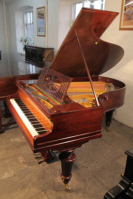 Restored, antique, Bechstein Model A grand piano. Rosewood with turned legs