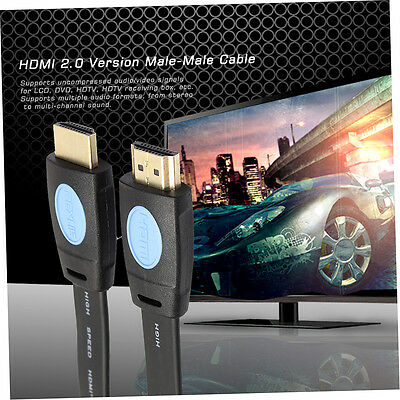 Super High Speed 1.8M/3M/5M Gold Plated HDMI 2.0 Version Male-Male Cable F3