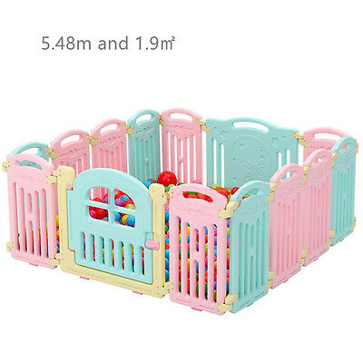 12+2 Indoor and outdoor Large Foldable Plastic Baby Playpen Fence Family Safety