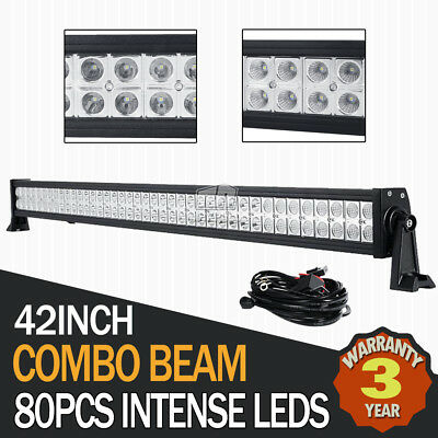 "45""Inch 1008W Philips Led Work Light Bar Spot Flood Beam Offroad Lamp Pickup 42"""