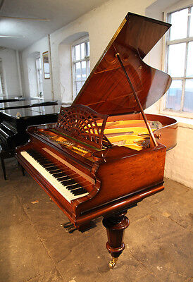 Restored, antique, 1908, Bechstein Model B grand piano. Rosewood case
