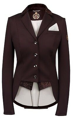 Fair Play Damen Turnierjacket Dressage Kurzfrack Modell Bea Brown