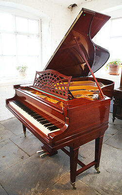 Restored, Bechstein model B grand piano. Mahogany, stringing inlay & gate legs