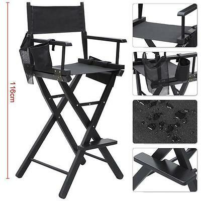 New Tall Director Chair/  Folding Makeup Artist Director Chair Wood Foldable