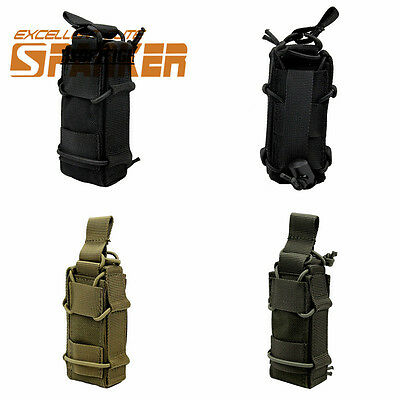 Molle Tactical Pistol Magazine Pouch Flashlight Holster with Belt Loop Paintball