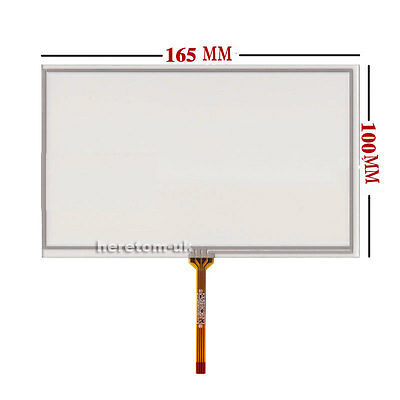 "7inch Resistive Touch screen Digitizer glass For GPS HSD070IDW1-E11 7"" 165*100mm"