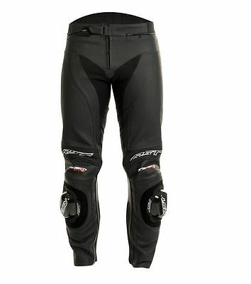 RST Tractech Evo 2 Leather Short Leg Bike/Motorcycle Pants/Trousers - Black