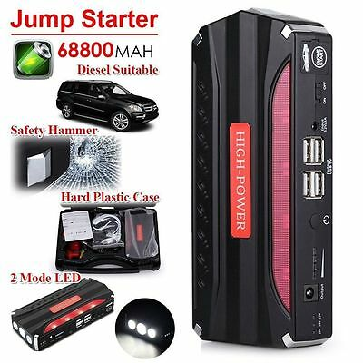 Heavy Duty 68800mAh 4 USB Power Bank Car Jump Starter Portable Emergency ChargYM