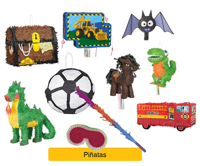 BOYS Theme PINATA - Birthday Party (Monster Truck/Construction/Football/Guitar)