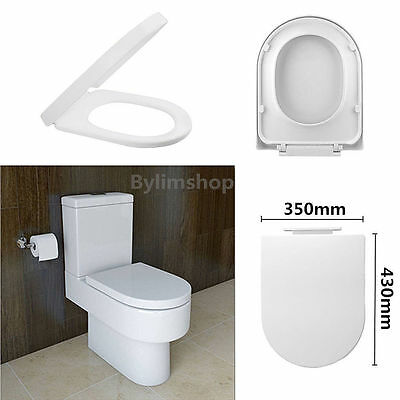 Luxury Soft Close Toilet Seat D-Shape White Slow Closing With Top Fixing HingYM