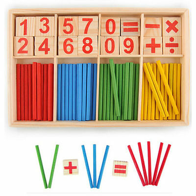 Baby Wooden Numbers Mathematics Early Learning Counting Educational Toy 2016