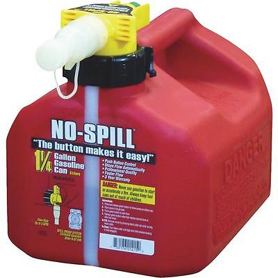 No-Spill CARB Compliant 1-1/4 Gallon Plastic Gasoline Fuel Can