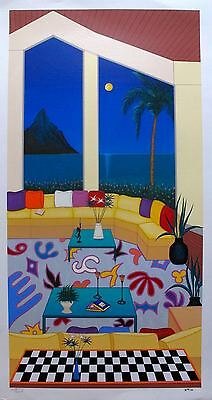 "FANCH LEDAN ""LIVING IN BORA BORA"" Hand Signed Limited Edition Serigraph Art"