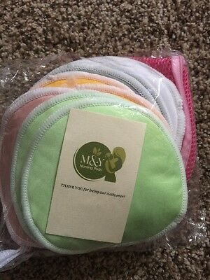 Organic Bamboo Nursing 12 Pads And Laundry Bag Super Soft And Absorbent