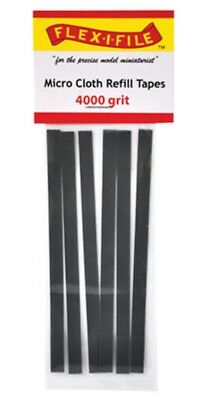 Flex-I-File Micro Cloth Refill Tapes 4000 Grit 6pc  for Sanding Frame #MCRT04000