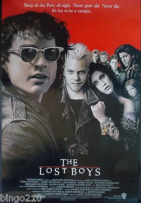 The Lost Boys Original 1987 1 Sheet Poster Rolled Jason Patric Kiefer Sutherland